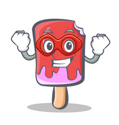 Super hero ice cream character cartoon vector