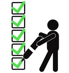 Symbol people with checklist vector
