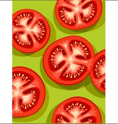 tomatoes on green vector image