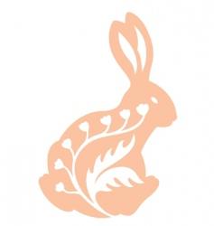 vintage rabbit back view vector image