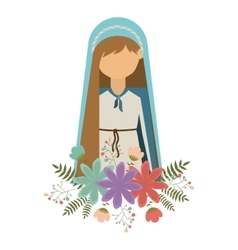virgin mary design vector image