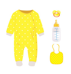 yellow baby set vector image