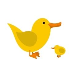 Yellow ducklings icon vector image