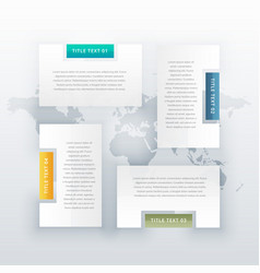 four steps infographic template design vector image