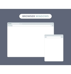 Web browser window vector