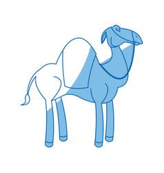 camel manger animal character christmas vector image vector image
