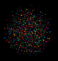 colorful circle confetti paper on black background vector image