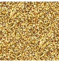 Hexagonal Gold glitter seamless pattern for vector image