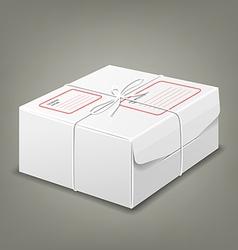 Parcel boxes white box design background vector image vector image