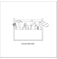 Toolbox Set of tools for home repairs vector image