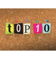 Top 10 Concept vector image