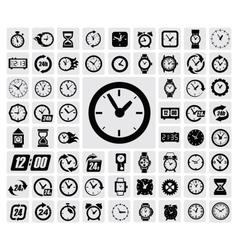 clocks icon vector image