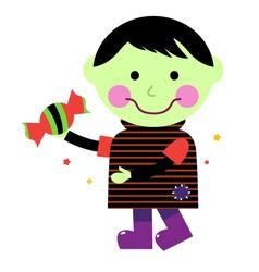 Cute Zombie boy vector image vector image