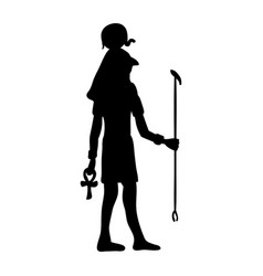 god ra horus egypt egyptian silhouette ancient vector image vector image