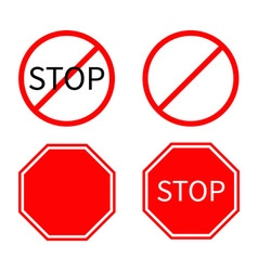 Prohibition no symbol red round stop warning road vector