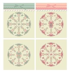 Set classic design indian element vector image