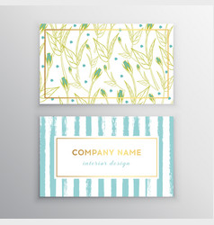 set of business card templates with brush vector image