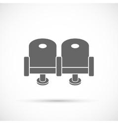 Cinema chair icon vector image