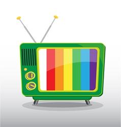 colorful retro television vector image vector image