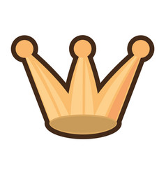 crown party isolated icon vector image