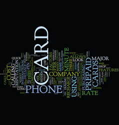 the down and dirty on prepaid phone cards text vector image vector image