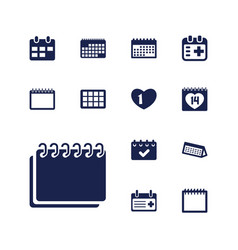 13 appointment icons vector