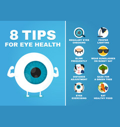 8 tips for eye health how to health care eyes vector