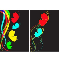abstract background from multi-colored butterflies vector image