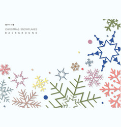 abstract of colorful christmas snowflakes pattern vector image