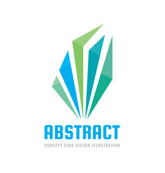 abstract structure - business logo template vector image