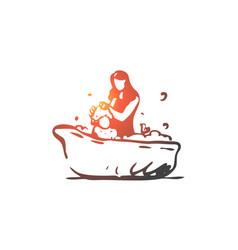 bamother bath shampoo soap concept vector image