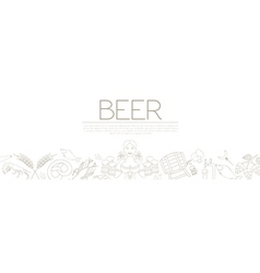 Beer graphic design Banner flyer vector