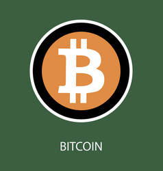 Bitcoin physical bit coin digital currency vector