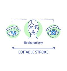 Blepharoplasty concept icon vector