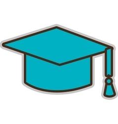 Blue graduation hat graphic vector