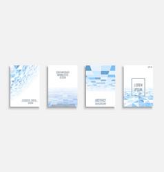 Blue light futuristic covers - mosaic geometric vector