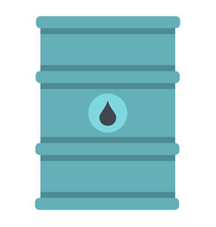 Blue oil barrel icon isolated vector