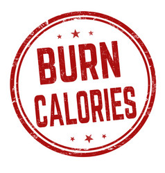 Burn calories sign or stamp vector