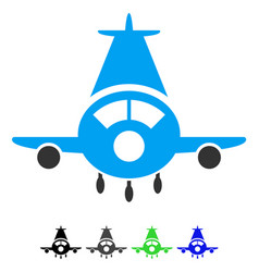 cargo plane flat icon vector image