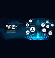 Clinical study concept banner vector