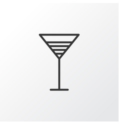 Cocktail icon symbol premium quality isolated vector