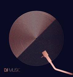 copper dj symbol circle concept vector image