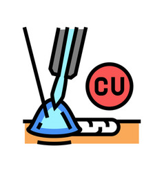 Copper welding color icon vector