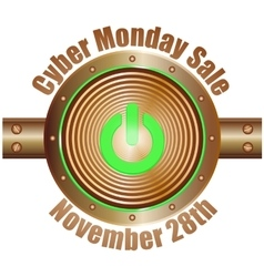 Cyber monday sale copper with blue vector
