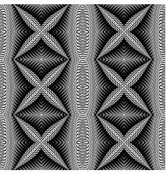 Design seamless monochrome cross pattern vector