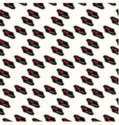 dog i love bulldogs heart valentine seamless vector image