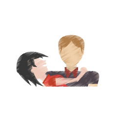 Drawing couple together relation vector