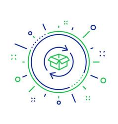 Exchange goods line icon return parcel sign vector