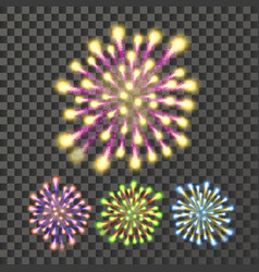 firework bursting sparkling star petard vector image