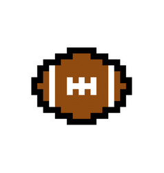 Football pixel image for game assets vector